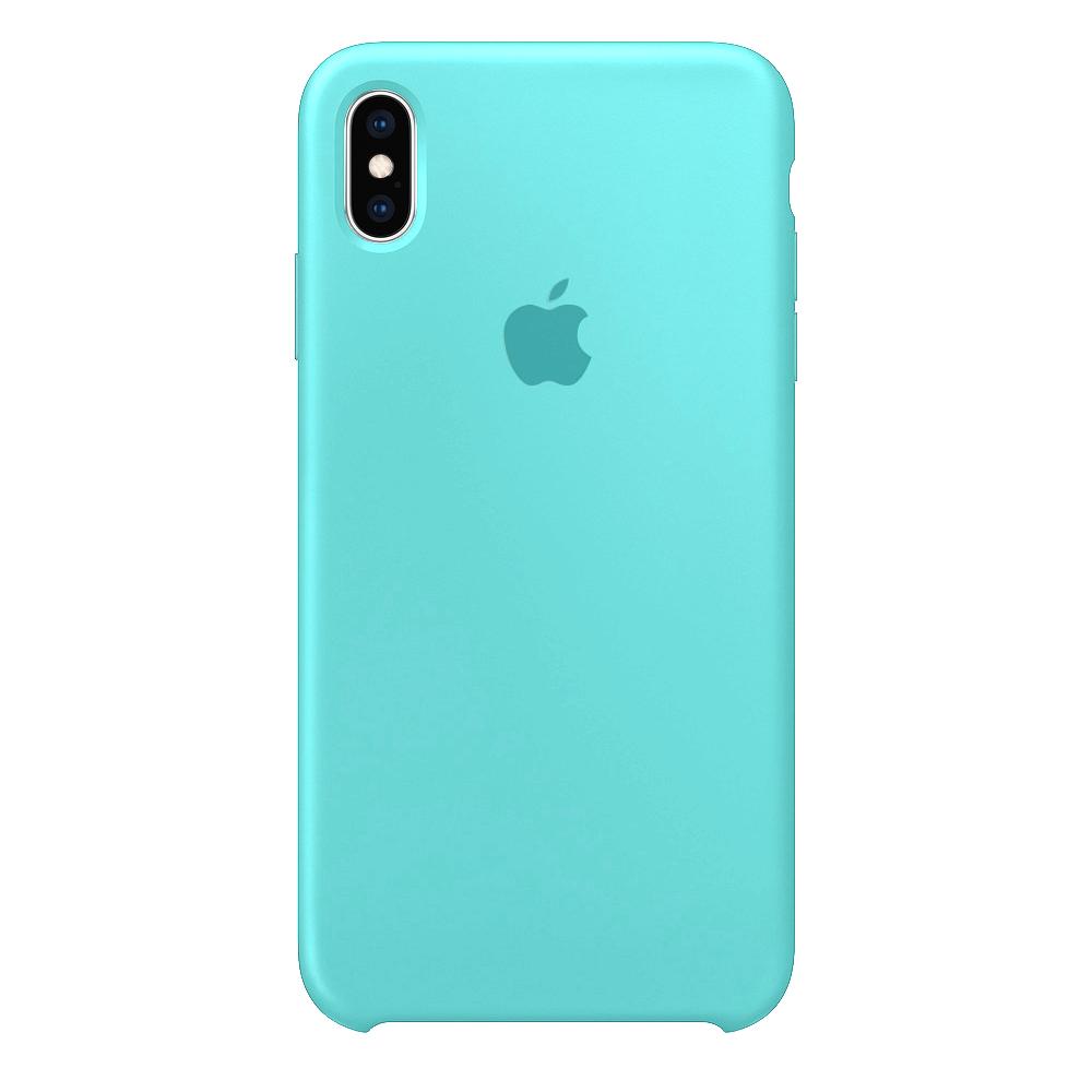 Силиконовый чехол на айфон/iphone Хs max sea blue морская волна