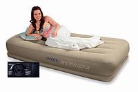 Надувная кровать Intex 67742 (102х203х38 см. ) + встроенный насос 220V…