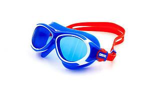 Очки-полумаска для плавания детские ARENA OBLO JUNIOR AR-1E034 (поликарбонат, термопластичная резина, силикон, цвета в ассортименте)