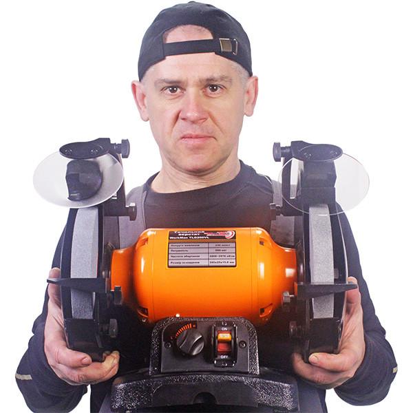 Точило 200 мм WorkMan TLG200VL з регулюванням обертів