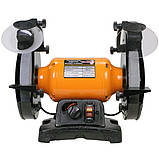 Точило 200 мм WorkMan TLG200VL з регулюванням обертів, фото 2