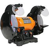 Точило 200 мм WorkMan TLG200VL з регулюванням обертів, фото 3