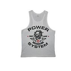 Майка для фитнеса и бодибилдинга Power System PS-8000 Boot Camp White M