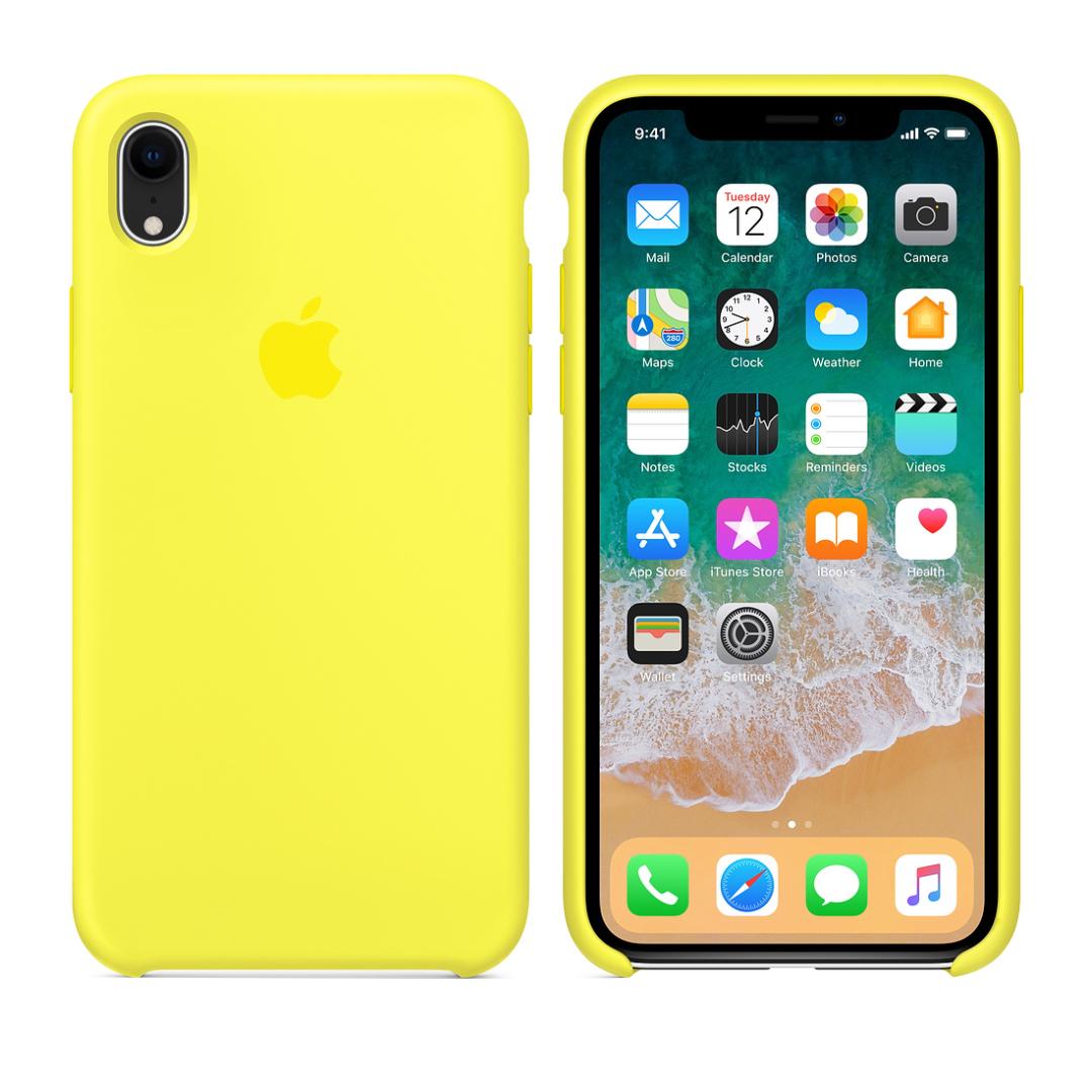 Силиконовый чехол на айфон/iphone XR flash yellow желтый
