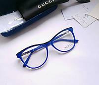 Женская синяя оправа Gucci  RO 214 - фирменный комплект