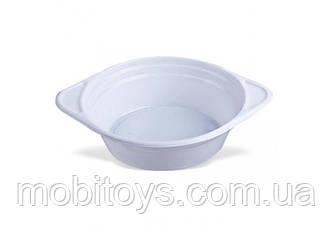 Тарелка глубокая 350мл (100 шт.) 40шт. / Ящ ПЛАСТ.