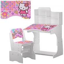 Детская парта-трансформер со стульчиком Hello Kitty, W 2071-48-1 белая