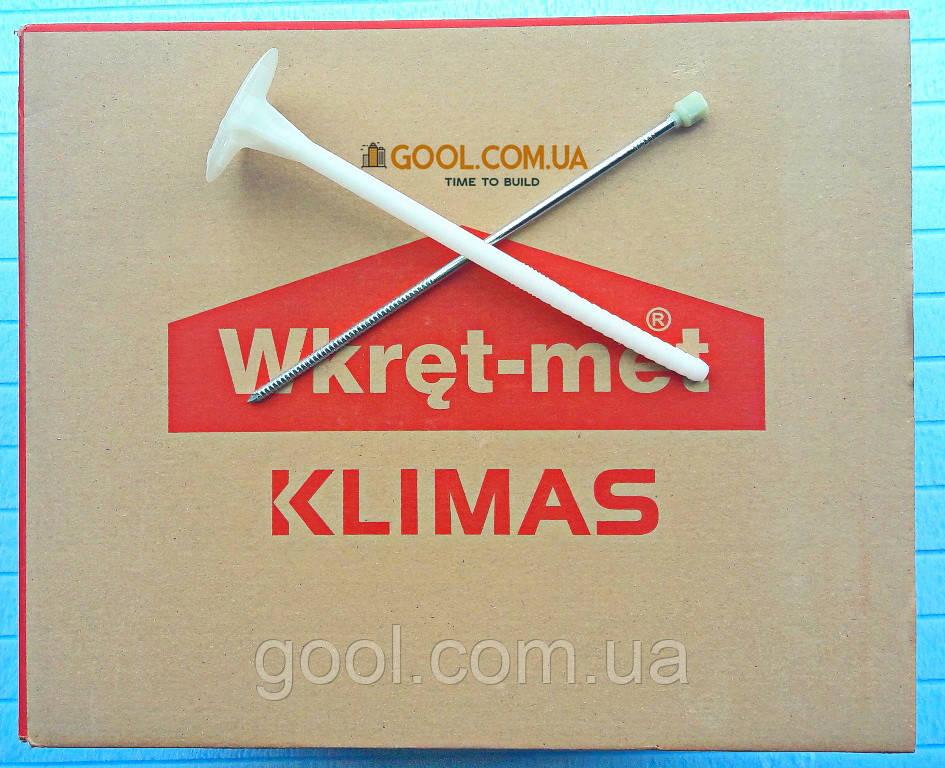 Дюбель Wkret-Met LFM 10х300мм с термоголовкой для минеральной ваты и пенопласта упаковка 100 штук