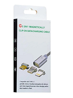 Магнитный кабель USB G5 2в1 ш.к.2000990863010