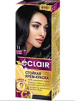 """Стійка крем-фарба для волосся """"ECLAIR"""" OMEGA-9  11 Синяво-чорний"""