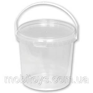 Ведерко прозрачное пищевое 0,5л. д12,9см / в.6см.