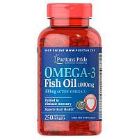 Жирные кислоты Puritan's Pride Omega 3, 250 капсул