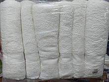 Полотенца махровые лицевые Белые Турция 6 штук в упаковке