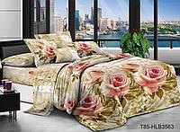 """Экономное постельное белье семейное с двумя пододеяльниками (9900) Бязь """"полиэстер"""""""