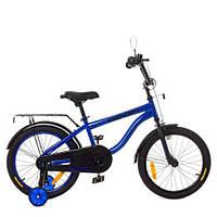 Велосипед детский PROF1 18д. SY18153 (1шт)Space,индиго,свет,звонок,зерк.,доп.колеса, фото 1