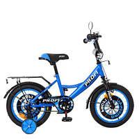 Велосипед детский PROF1 14д. XD1444 Original boy сине-черный, фото 1