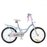 Велосипед детский PROF1 20д. SY20196 (1шт) Angel Wings,голубой,свет,звонок,зерк, фото 1