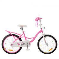Велосипед детский PROF1 20д. SY20191 (1шт) Angel Wings,розовый,свет,звонок,зерк, фото 1