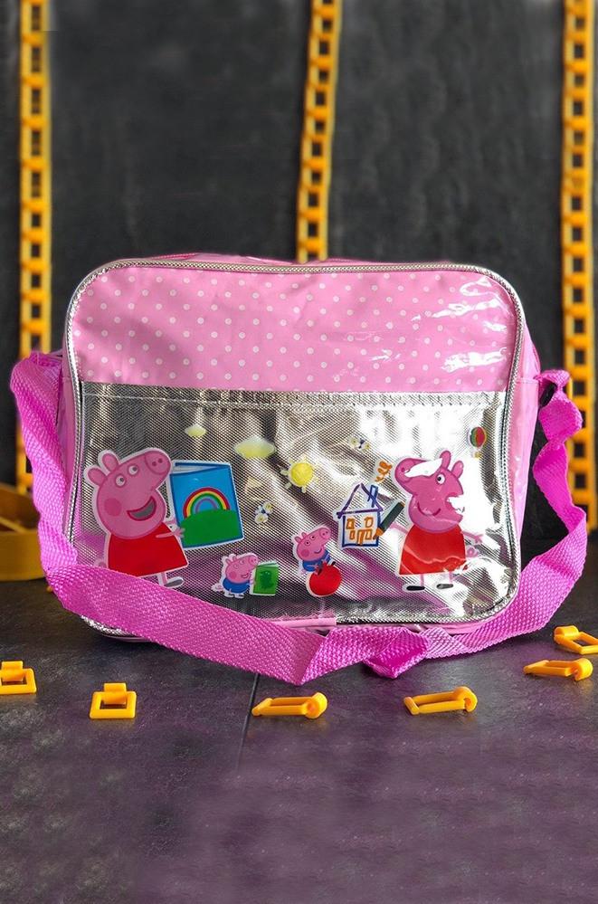 Сумка детская розовая 22 x 18 x 6 AAA 588