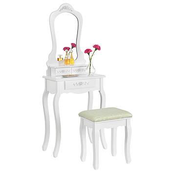 Туалетний столик Софа білий Трюмо з дзеркалом в спальню