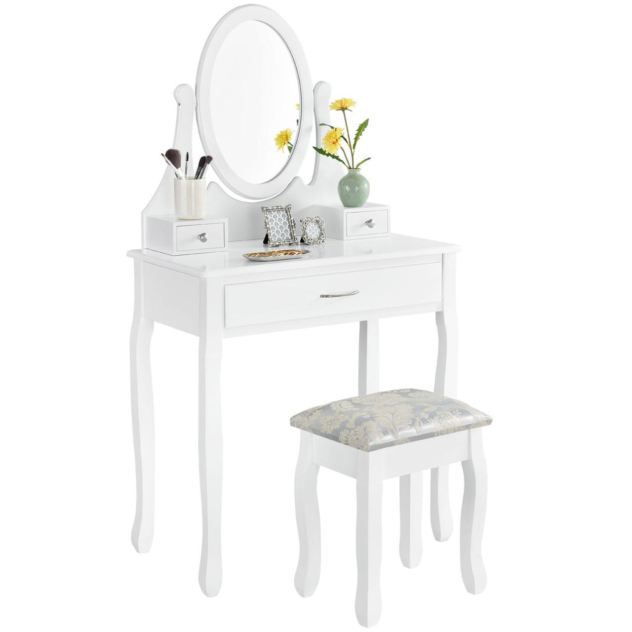 Туалетний столик Милена белый с зеркалом Трюмо в спальню