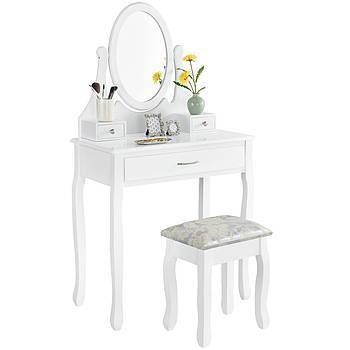 Туалетний столик Мілена білий Трюмо з дзеркалом в спальню