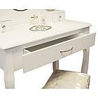 Туалетний столик Милена белый с зеркалом Трюмо в спальню, фото 4