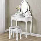 Туалетний столик Милена белый с зеркалом Трюмо в спальню, фото 5