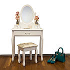 Туалетний столик Милена белый с зеркалом Трюмо в спальню, фото 7