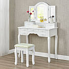 Туалетный косметический столик Кензо белый с зеркалом Трюмо в спальню, фото 6