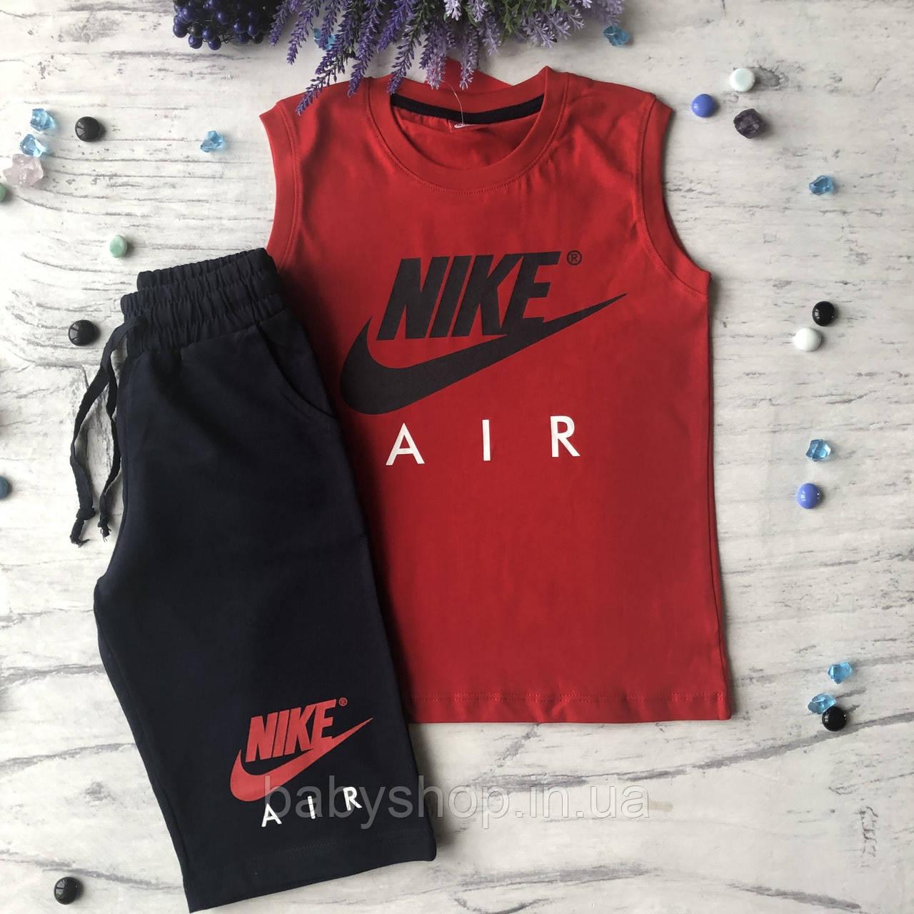 Летний костюм в стиле Nike на мальчика 9. Размер 128 см, 134 см, 140 см