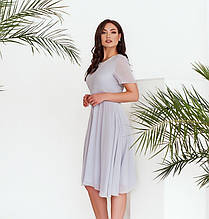 Платье женское батал с двухслойным подолом