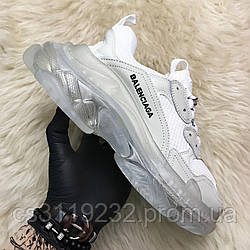 Мужские кроссовки Balenciaga Triple S Clear Sole White Grey