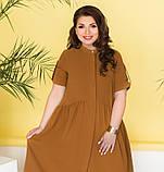 Лёгкое платье большого размера с подолом, подшитым к лифу, фото 2