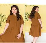 Лёгкое платье большого размера с подолом, подшитым к лифу, фото 3