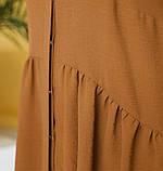 Лёгкое платье большого размера с подолом, подшитым к лифу, фото 4