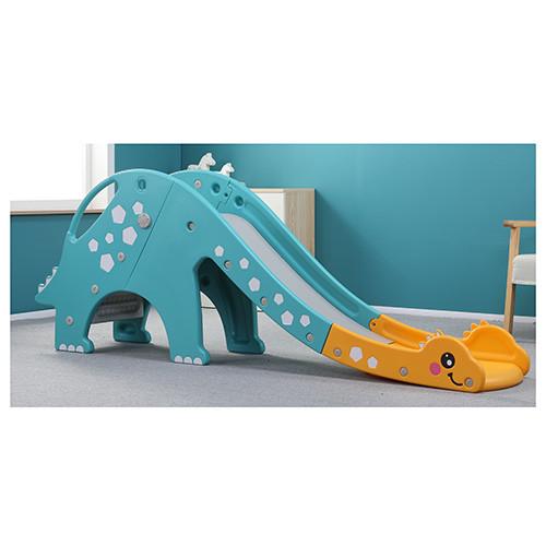 Детская горка BAMBI DINO-4 динозавр желто-голубая