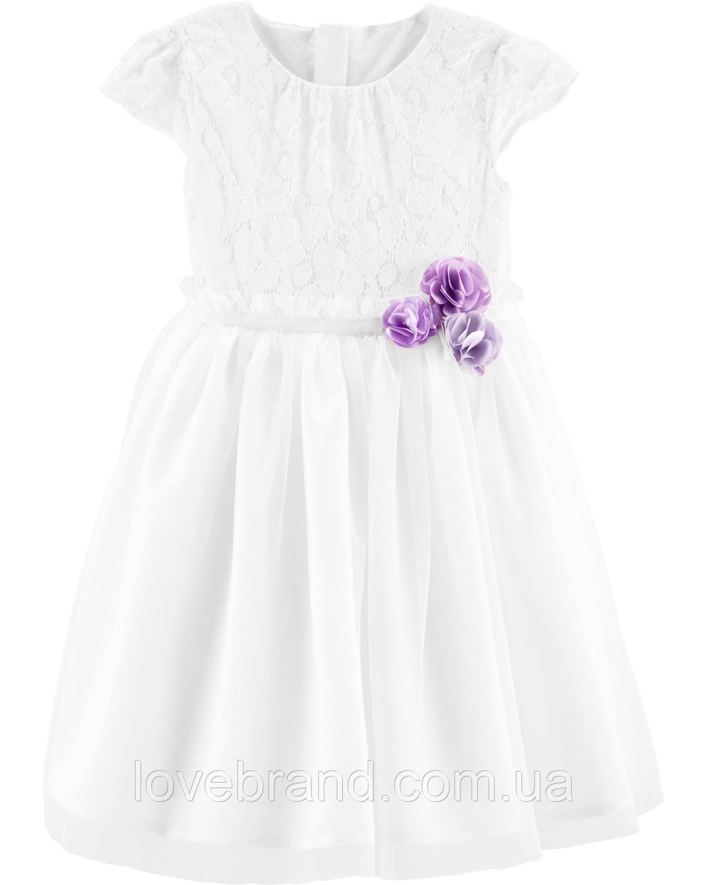 Нарядное платье для девочки OshKosh белое на 2 года
