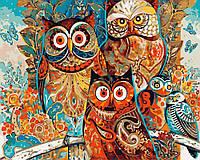 Картина по номерам Волшебные совы GX8849 Brushme 40 х 50 см (без коробки)