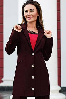 Женский классический пиджак Адриана бордо