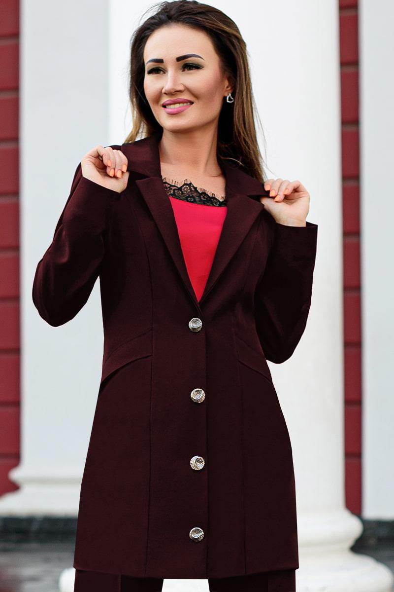 Жіночий класичний піджак Адріана бордо