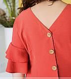 Женское летнее платье с рукавами-воланами, фото 2