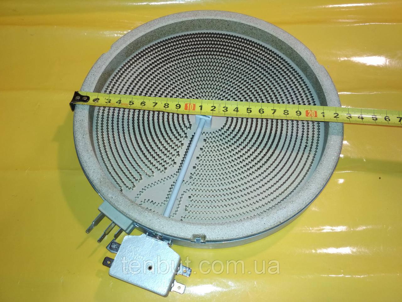 Тэн для стеклокерамических эл.плит 1000+1200 Вт./230В./Ø-230 мм.на 5 вывода с разширением HEATWELL Kawai