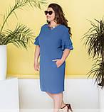 Женское летнее платье с рукавами-воланами, фото 4