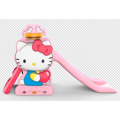Детская горка BAMBI HK2018-1B Hello Kitty баскетбольное кольцо розово-красно-голубая