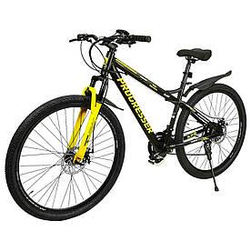 """Электровелосипед PROGRESSER Glide P29 (колеса 29"""",24-скоростной, моторколесо 250W, аккумулятор 36V 6Ah) Черный"""
