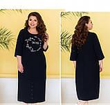 Платье женское плюс сайз с оригинальным принтом, фото 2