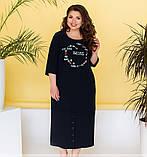 Платье женское плюс сайз с оригинальным принтом, фото 3