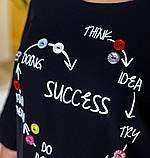 Платье женское плюс сайз с оригинальным принтом, фото 4