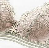 Комплект нижнего белья  Lux4ika размер 80В bebella классический с кружевами Зеленый (n-552), фото 4